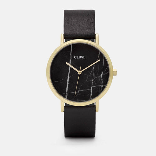 Image: CLUSE La Roche Gold Black Marble/Black CL40004 - watch