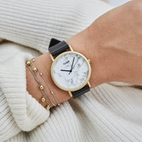 CLUSE La Roche Gold White Marble/Black CL40003 - watch on wrist