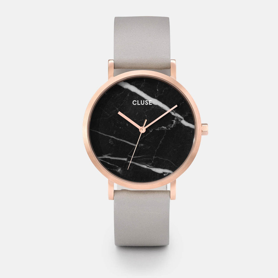 CLUSE La Roche Rose Gold Black Marble/Grey CL40006 - watch