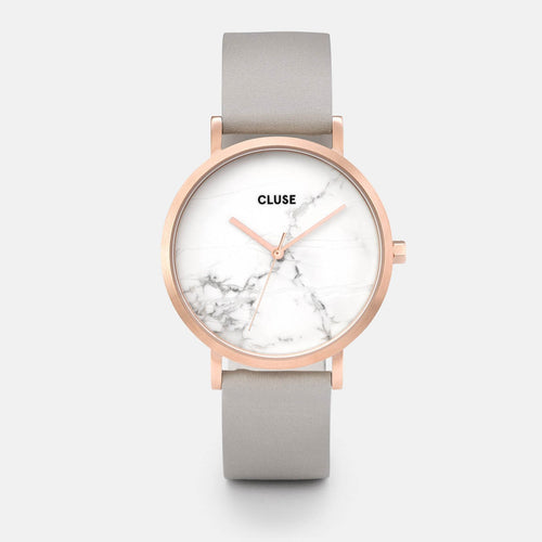 Image: CLUSE La Roche Rose Gold White Marble/Grey CL40005 - watch