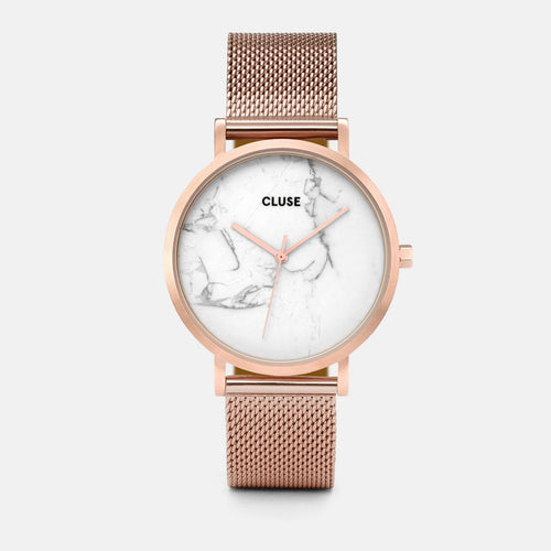 Image: CLUSE La Roche Mesh Rose Gold/White Marble CL40007 - watch
