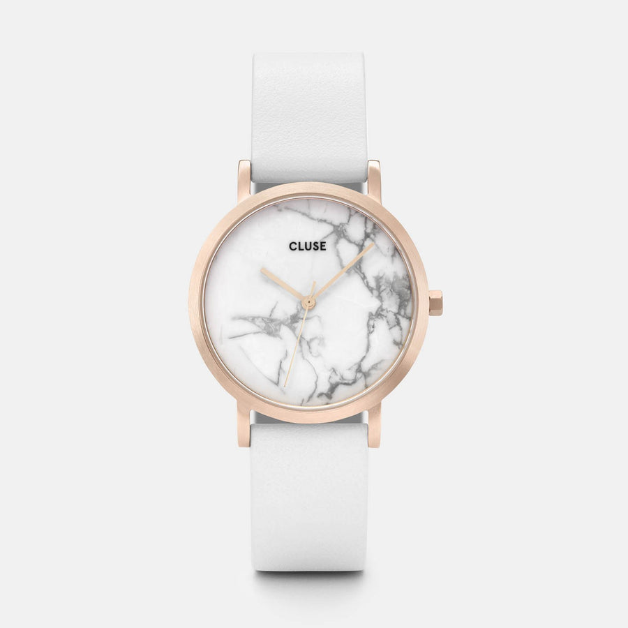 CLUSE La Roche Petite Rose Gold White Marble/White CL40110 - watch
