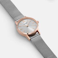 CLUSE La Vedette Mesh Rose Gold/Silver CL50024 - watch face detail