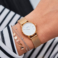 CLUSE 12 mm Strap Mesh Rose Gold CLS502 - strap on wrist