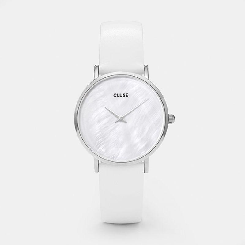 CLUSE Minuit La Perle Silver White Pearl/White CL30060 - watch