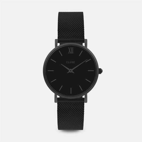 Image: CLUSE Minuit Mesh Full Black CL30011 - watch
