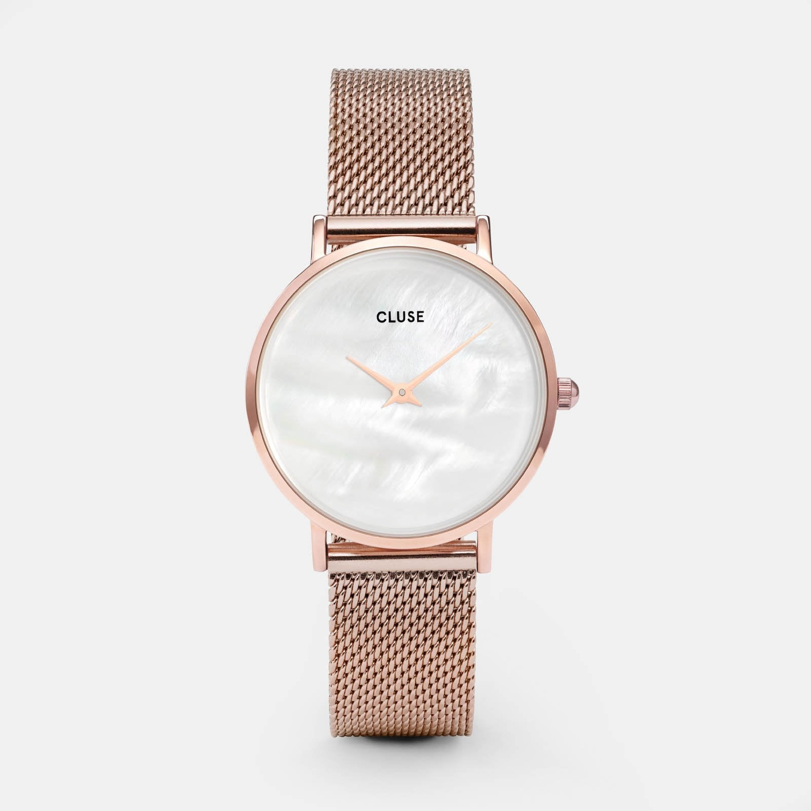 CLUSE Minuit La Perle Mesh Rose Gold/White Pearl CL30047 - watch