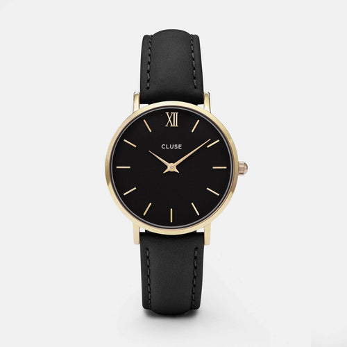 Image: CLUSE Minuit Gold Black/Black CL30004 - watch