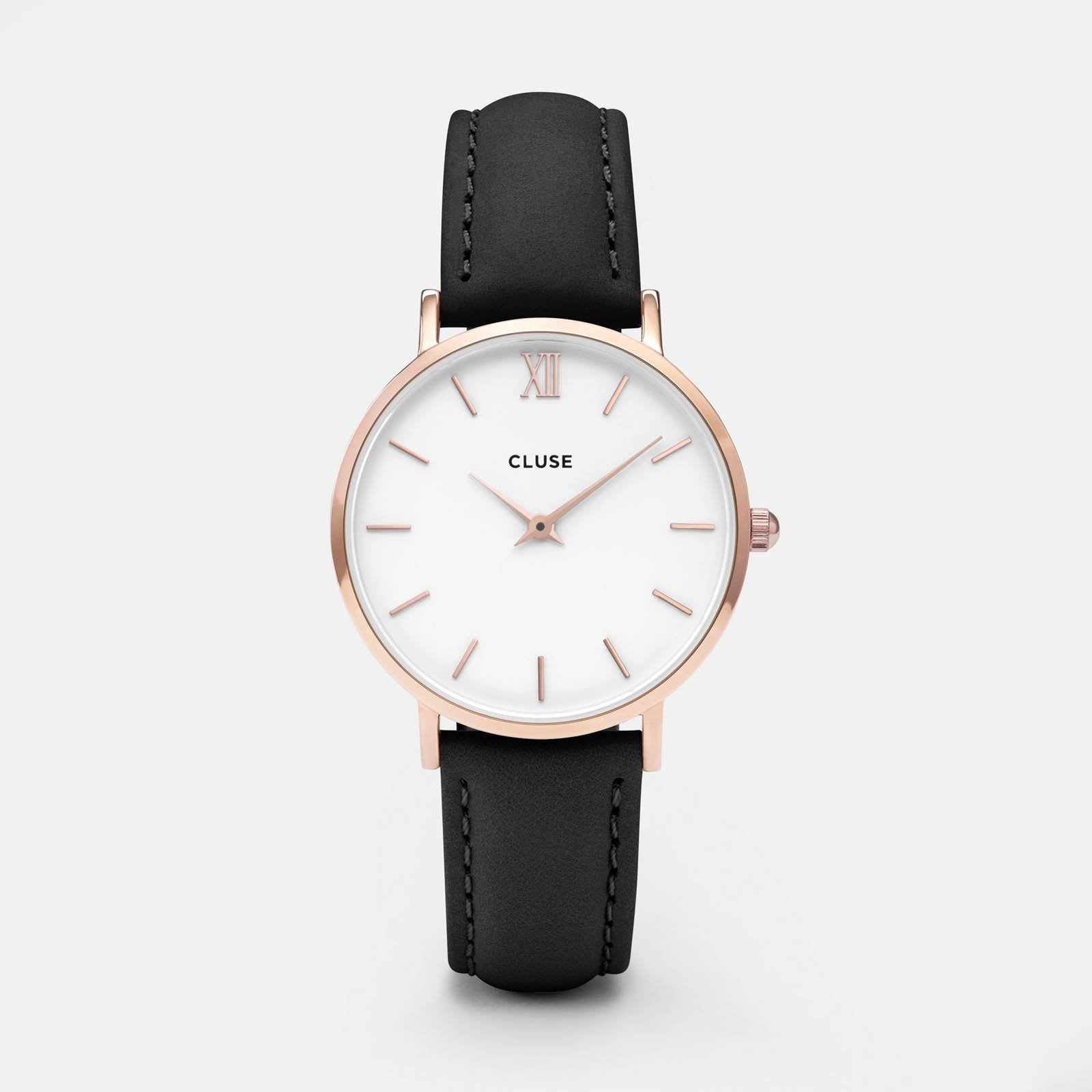 CLUSE Minuit Rose Gold White/Black CL30003 - watch