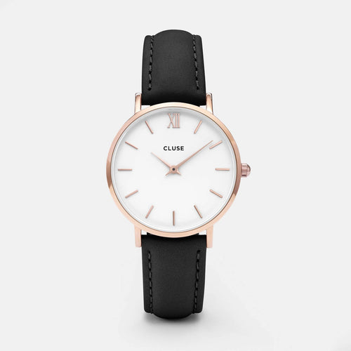 Image: CLUSE Minuit Rose Gold White/Black CL30003 - watch