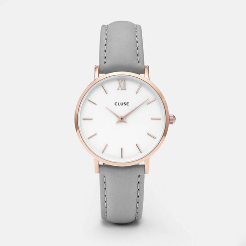 Image: CLUSE Minuit Rose Gold White/Grey CL30002 - watch