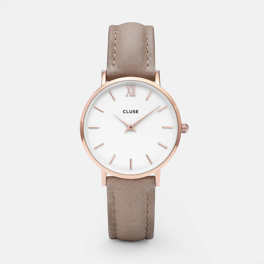 CLUSE Minuit Rose Gold White/Hazelnut CL30043 - watch