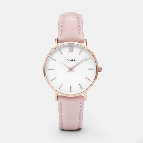 Image: CLUSE Minuit Rose Gold White/Pink CL30001 - watch