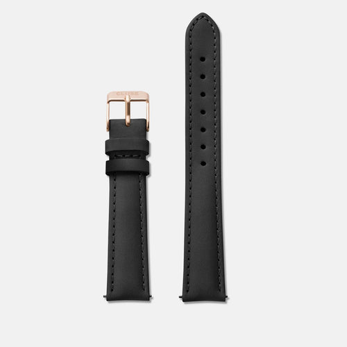 Image: CLUSE 16 mm Strap Black/Rose Gold CLS301 - strap
