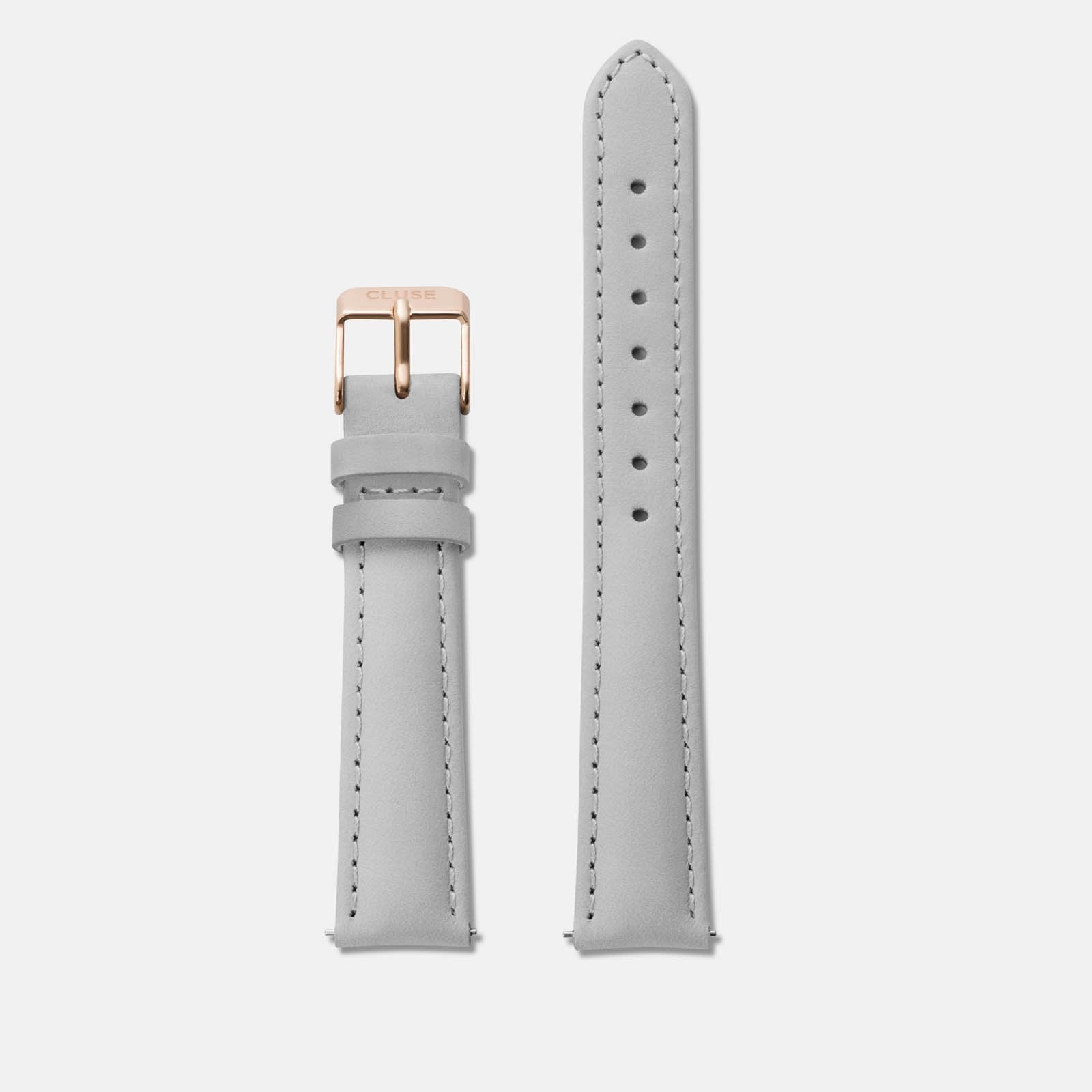 CLUSE Strap 16 mm Leather Grey/Rose Gold CS1408101027 - Strap