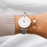 CLUSE 16 mm Strap Grey/Rose Gold CLS319 - strap on wrist