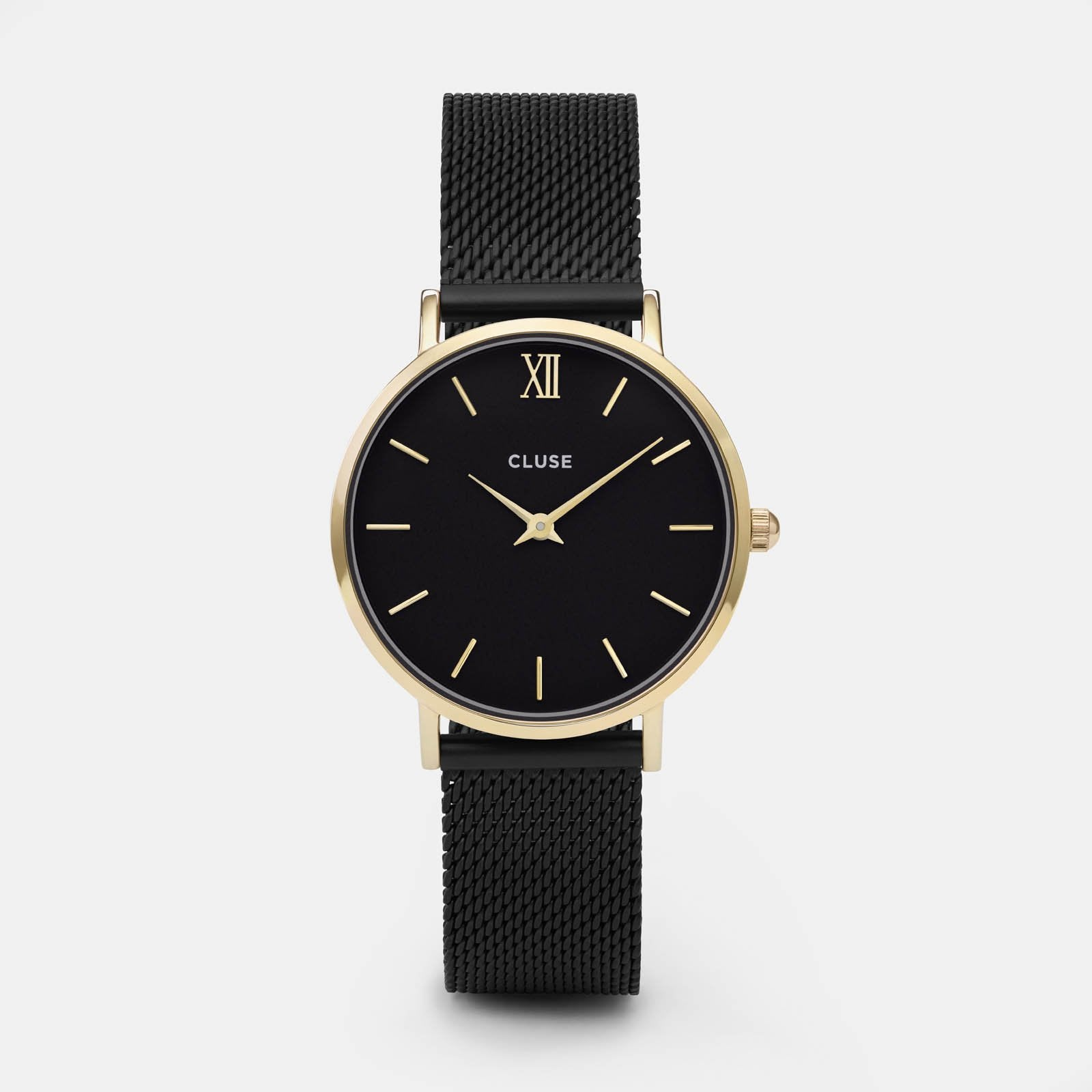 CLUSE Minuit Mesh Gold Black/Black CL30026 - watch
