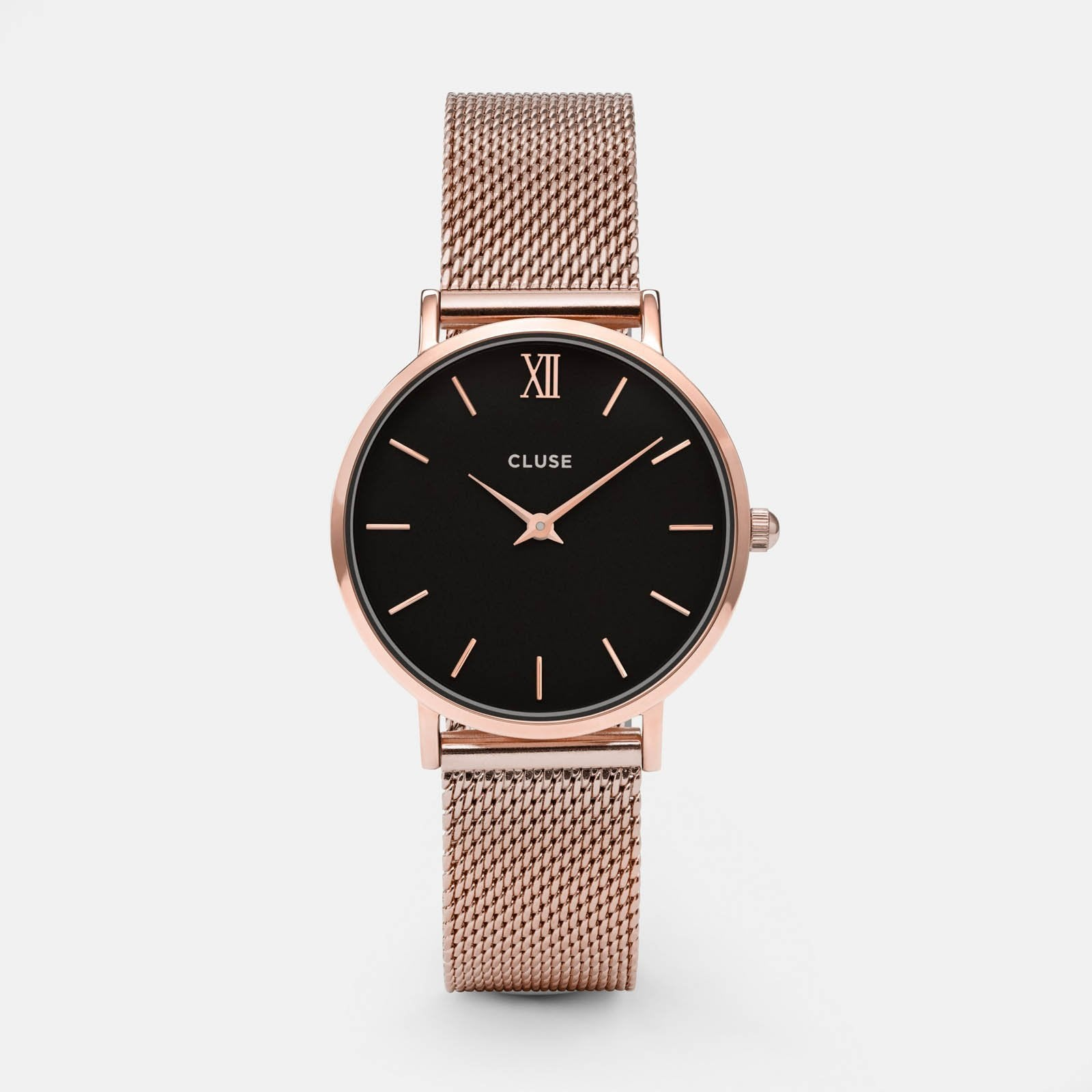 CLUSE Minuit Mesh Rose Gold/Black CL30016 - watch
