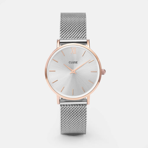 Image: CLUSE Minuit Mesh Rose Gold/Silver CL30025 - watch