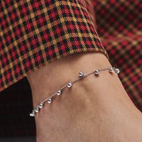 Essentielle Silver Orbs Anklet