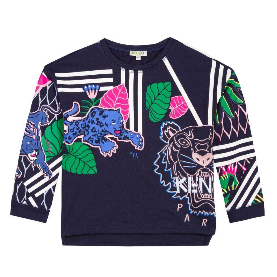 Kenzo Sweat Shirt BIS For Girls, Navy