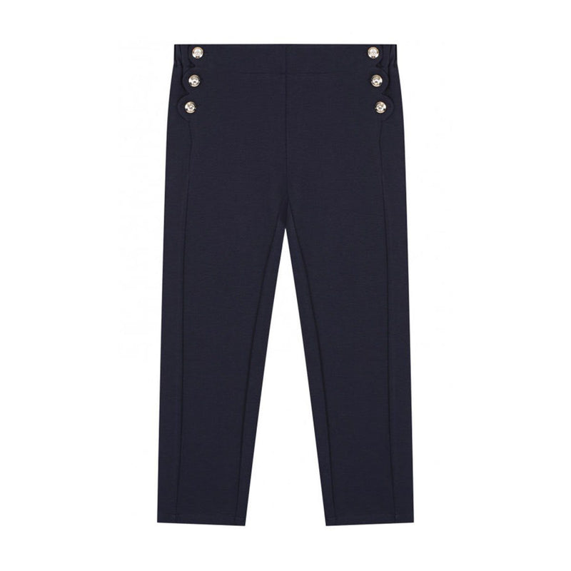 Chloe - Trousers For Girls, Navy Blue