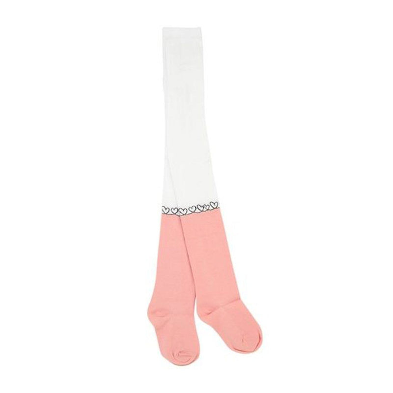 Fendi - Hearts Collant Leggings For Girls, Pink/White