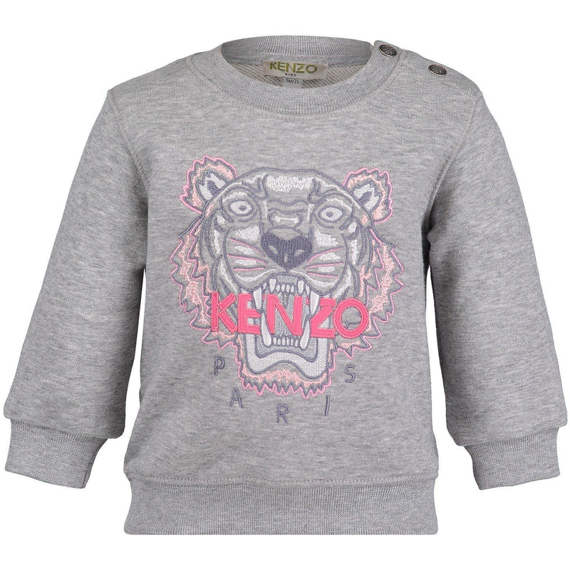 Kenzo Sweat-Shirt Tiger JGPER2BB For Girls/Kids, Grey