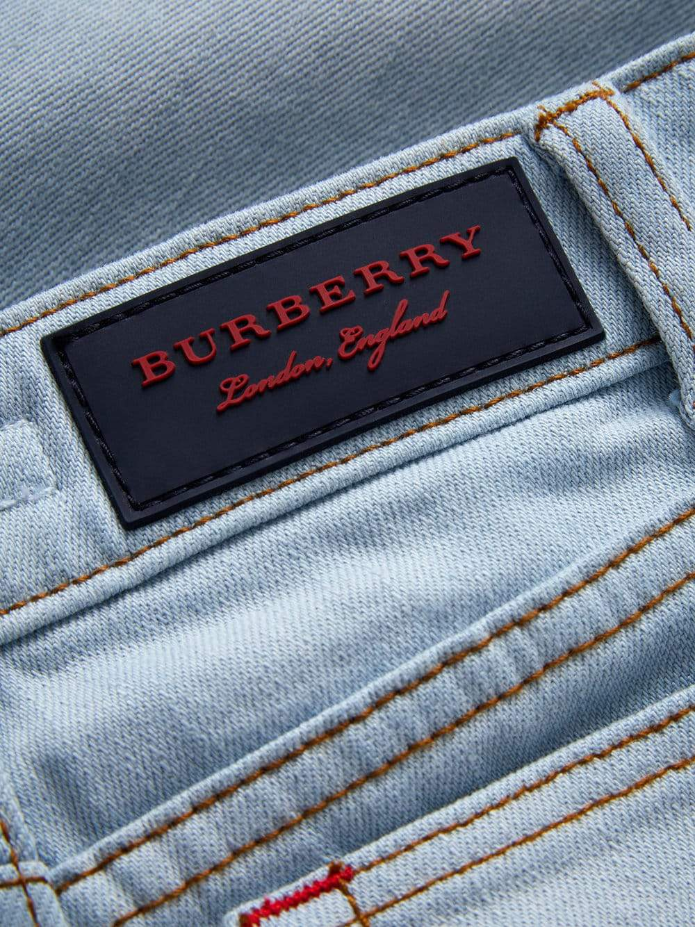 Burberry KB4 Relaxed Jean For Boys/Kids, Light Blue