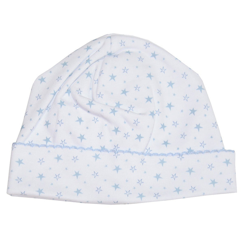 Kissy Kissy -  Hearts & Stars Print Hat For Boys, Light Blue