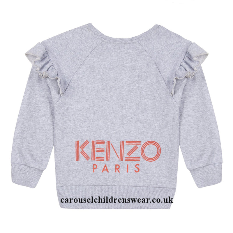 Kenzo Sweat-Shirt Logo JG2 For Girls/Kids, Grey
