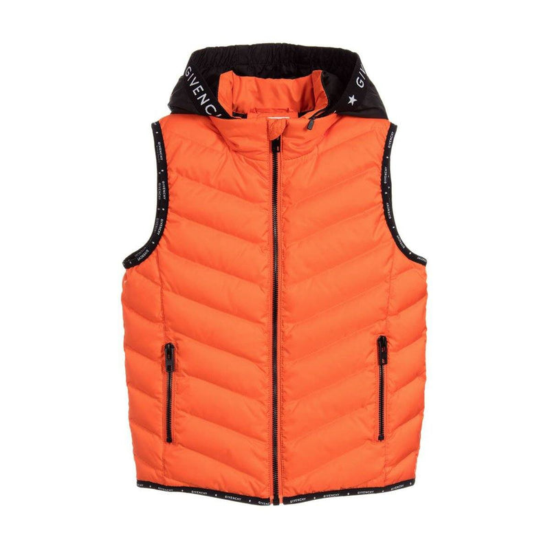 Givenchy Puffer Jacket For Boys, Orange