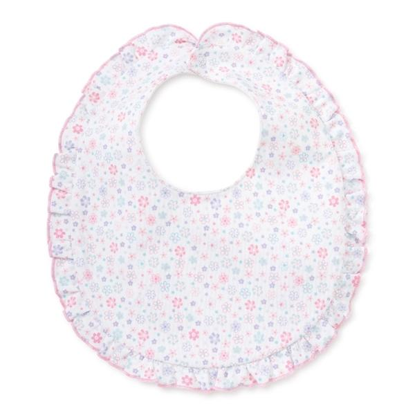 Kissy Kissy - Eloquent Elephants Bib for Girls, Pink