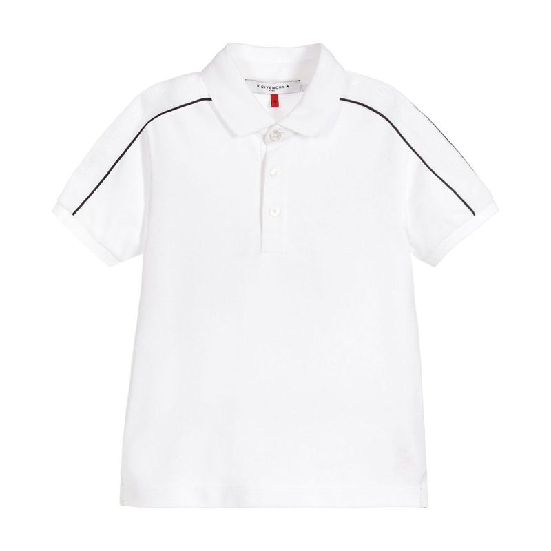 Givenchy Short Sleeves Polo For Boys, White