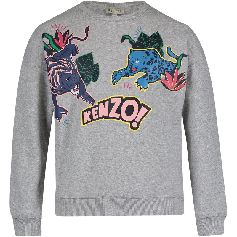 Kenzo Sweat-Shirt Eleona For Girls/Kids, Grey
