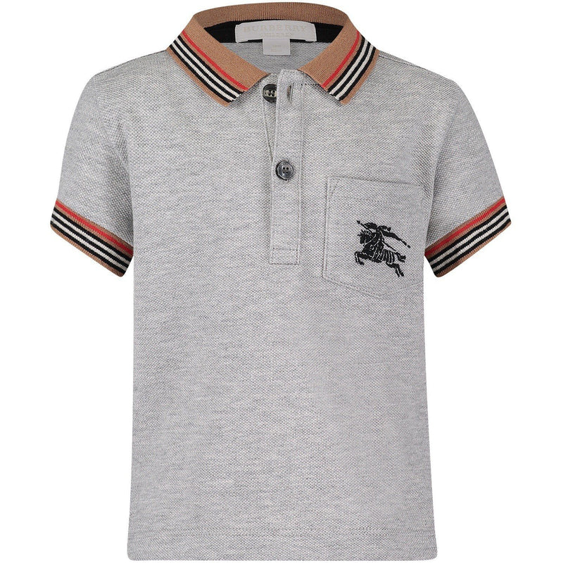 Burberry IB5 Mini Noel Polo Shirt for Boys, Grey