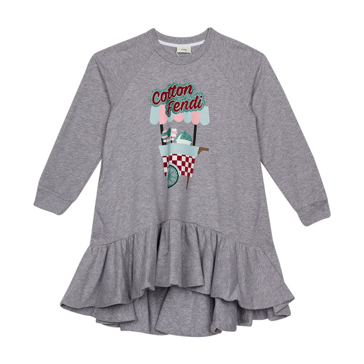 Fendi - Sweat Dress For Girls, Grey
