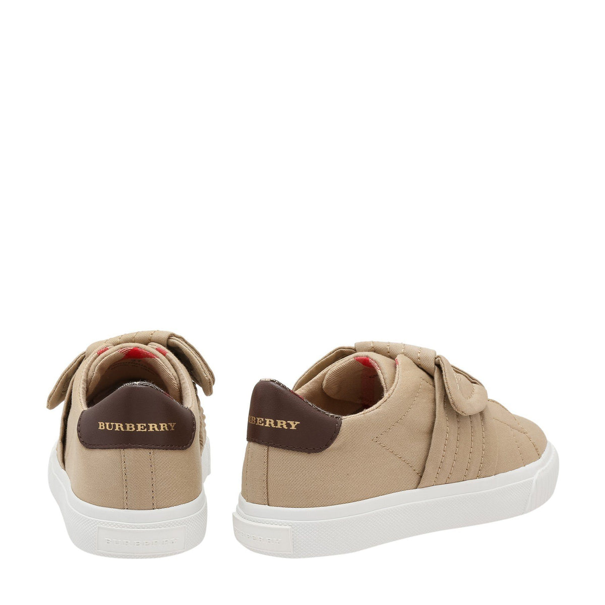 Burberry Mini Westford Trainers For Boys, Brown