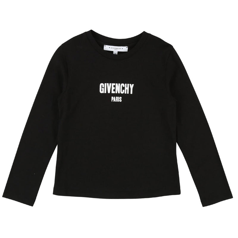 Givenchy Long Sleeves T-Shirt For Boys, Black