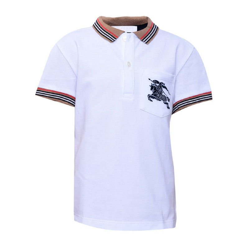 Burberry Polo Shirt For Boys, White