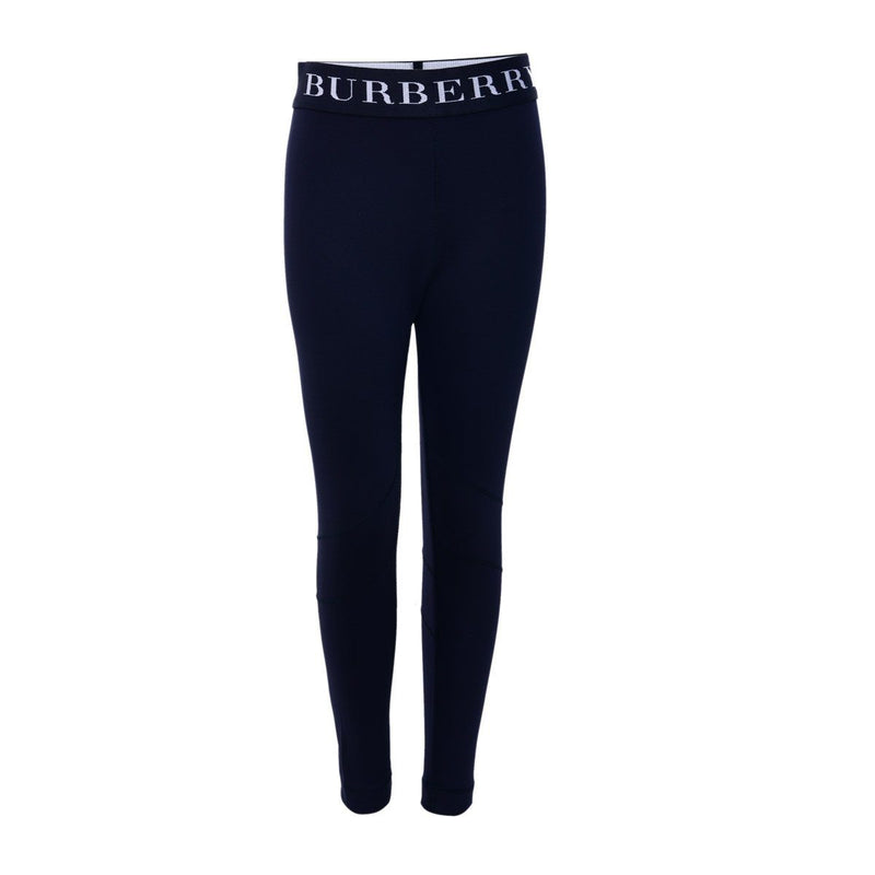 Burberry Jersey Trousers For Girls, Black