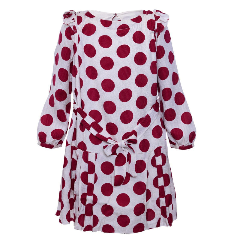 Burberry Dress For Girls, Red