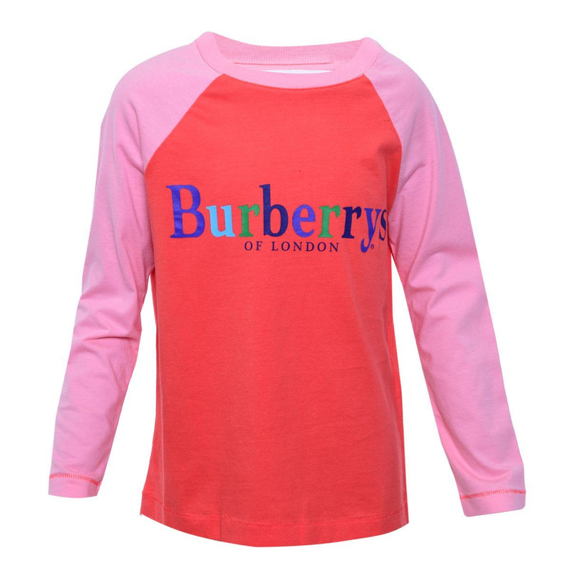 Burberry T-Shirt For Girls, Red