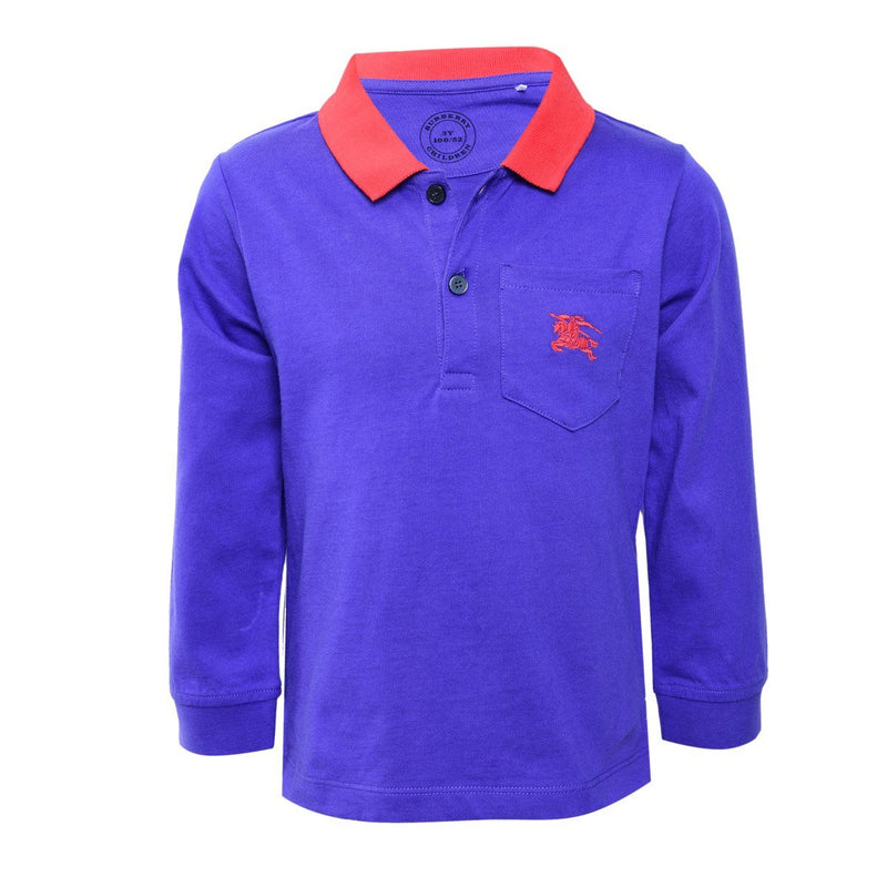 Burberry Polo Shirts For Boys, Blue