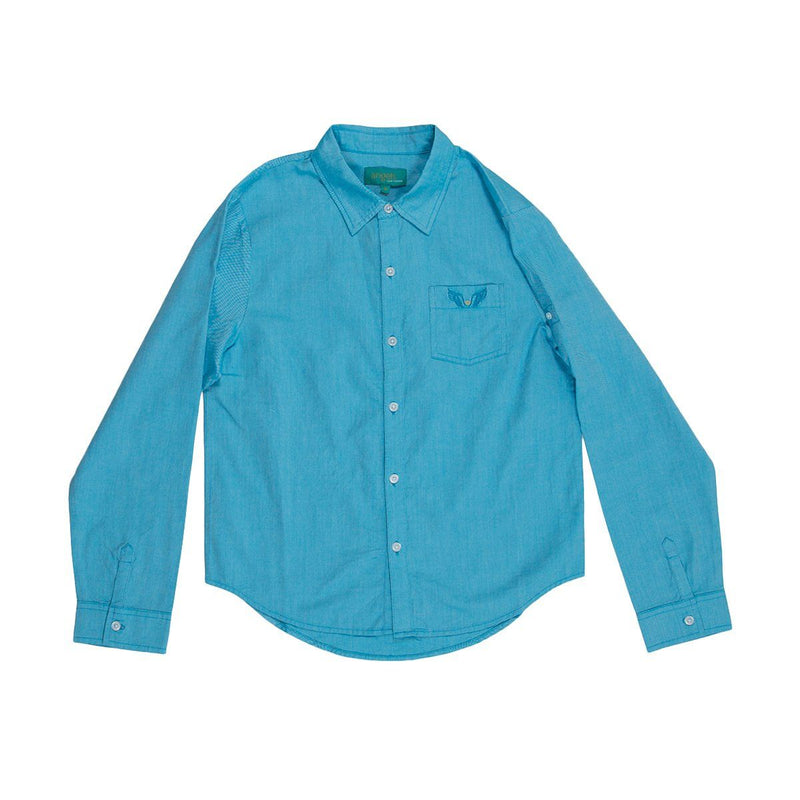 Angels Luxury Kidswear Oxford Shirt For Boys, Blue