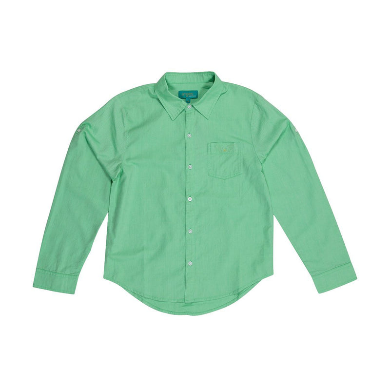 Angels Luxury Kidswear Oxford Shirt For Boys, Green