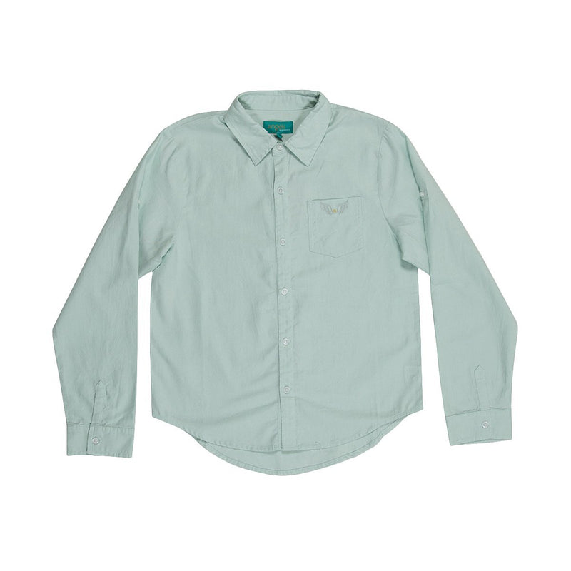 Angels Luxury Kidswear Oxford Shirt For Boys, Light Green