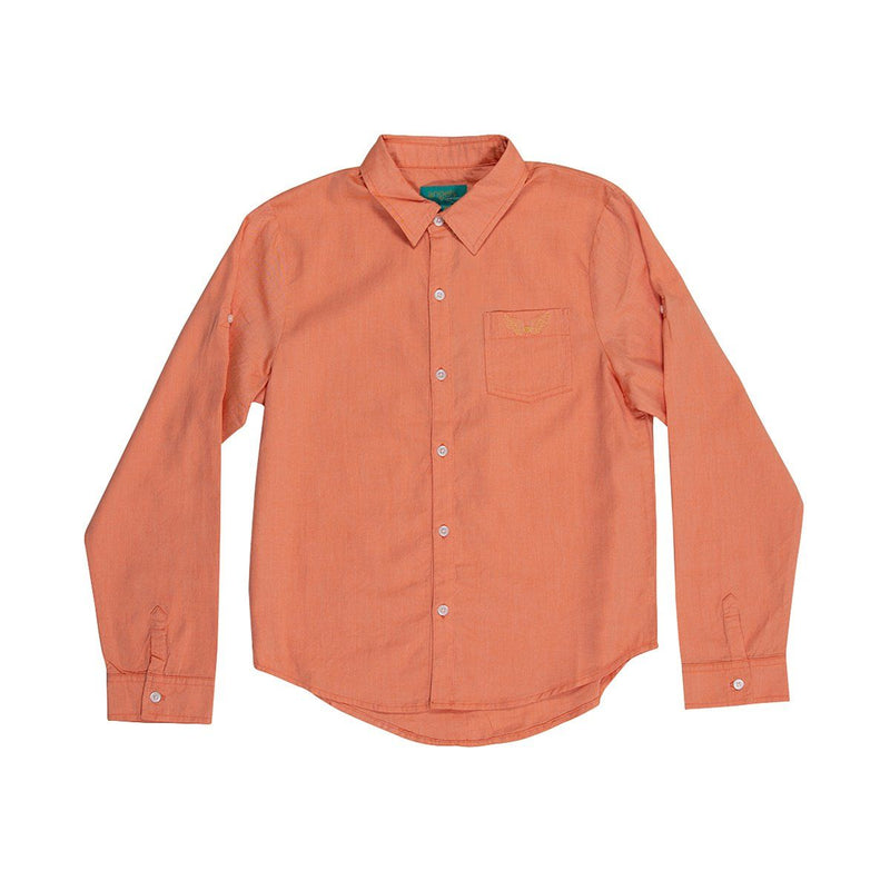 Angels Luxury Kidswear Oxford Shirt For Boys, Orange