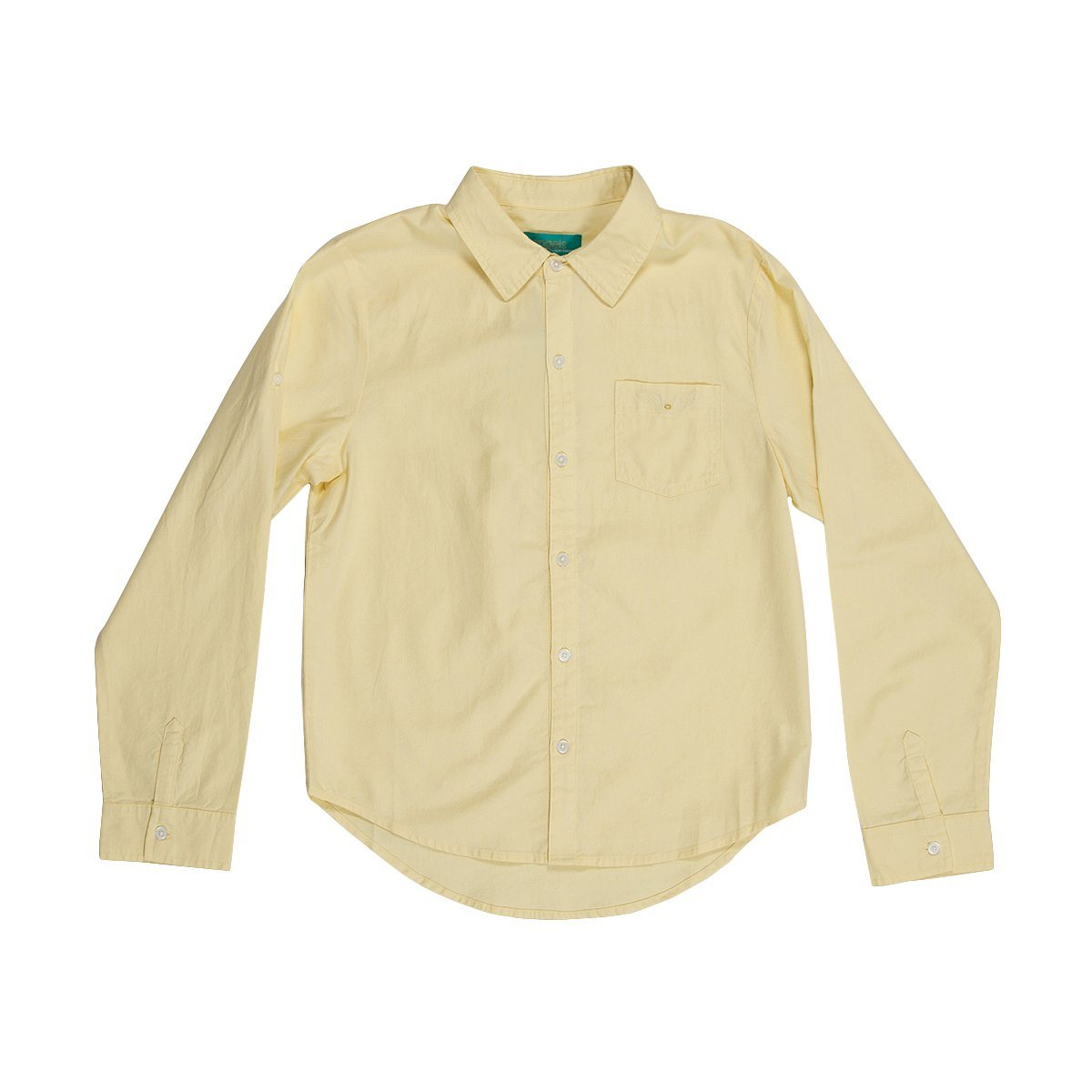 Angels Luxury Kidswear Oxford Shirt For Boys, Yellow