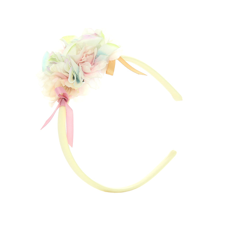 Angels Luxury Kidswear Flower Hairband for Girls, Yellow